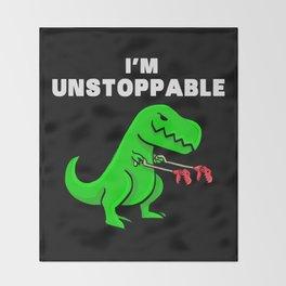 I am unstoppable | Dinosaur Tyrannosaurus Rex Throw Blanket