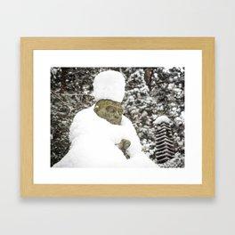Meditation in Snow Framed Art Print