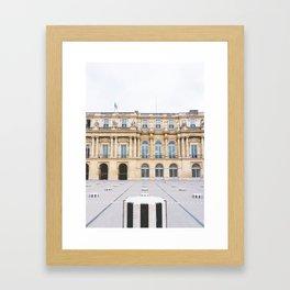 Buren's Columns, Le Palais Royal Courtyard, Paris, France Framed Art Print
