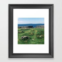 Moher Greenery Framed Art Print