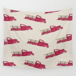 Old Red Truck Wall Tapestry