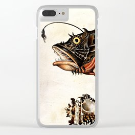 Deep sea fish, crabs and sea snails Clear iPhone Case