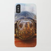 turtle iPhone & iPod Cases featuring Turtle by Anna Milousheva