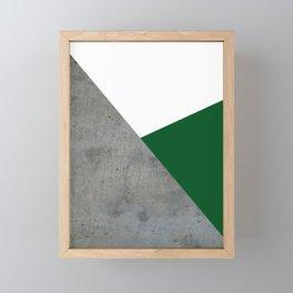 Concrete Festive Green White Framed Mini Art Print