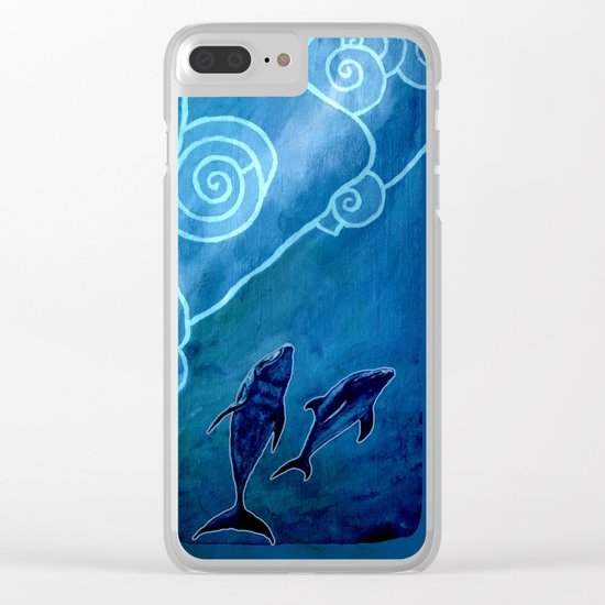 MELUSINA SEA DOLPHINS Clear iPhone Case