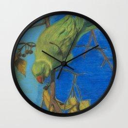 parrot 3 Wall Clock