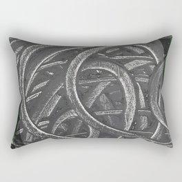 Junction - green/black graphic Rectangular Pillow