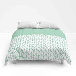 Half Knit Mint Comforters