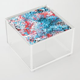 Demonic Toy Poodle Abstract Acrylic Box