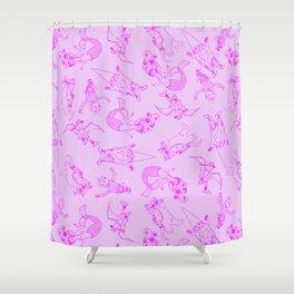 Throwback Kitsch Shower Curtain
