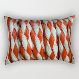 Inspiring Red and White Rectangular Pillow