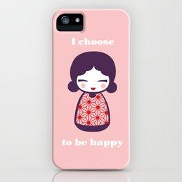 Japanese Doll IV iPhone Case