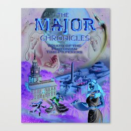 The Major Chronicles Vol. II Book Cover-Negative Variant Canvas Print
