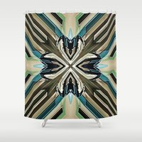 power Shower Curtains featuring Power by David Lee