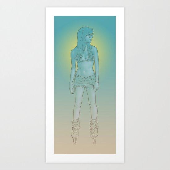 Rollerbabe Art Print