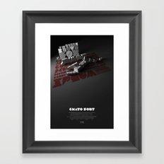 Chato Font poster Framed Art Print