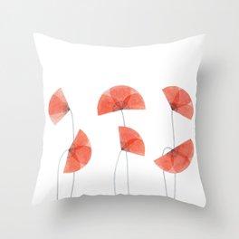 Flanders poppy, corn poppy, flower Throw Pillow