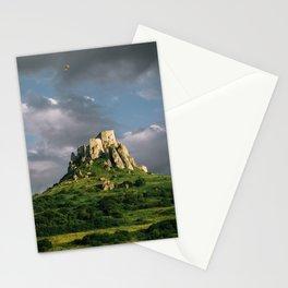 Medieval castle Slovakia Unesco Europe landscape sunset nature Stationery Cards