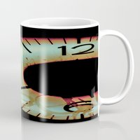 tom waits Mugs featuring Time Waits For Nobody by Thomas Eppolito