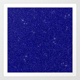 C13D Blue Glitter Art Print