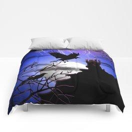 Raven's Haunted Castle Comforters