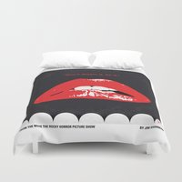 rocky horror picture show Duvet Covers featuring No153 My The Rocky Horror Picture Show minimal movie poster by Chungkong