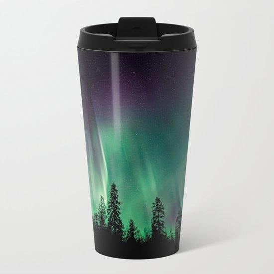Aurora Borealis (Heavenly Northern Lights) Metal Travel Mug