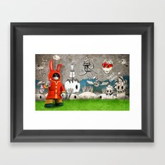 Super Bunny Framed Art Print
