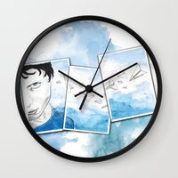 engineer Wall Clocks featuring The Dreaming Engineer Ia by Vivian TAN Ai Hua