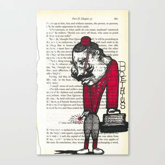 quixote pages by boethius (4) Canvas Print