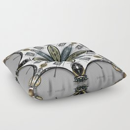 technical abstraction Floor Pillow