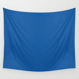 Princess Blue Pantone fashion pure color trend Spring/Summer 2019 Wall Tapestry