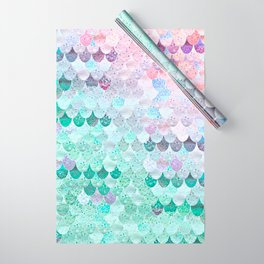 SUMMER MERMAID - CORAL MINT Wrapping Paper