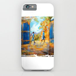 The Blue Gates /Haiti iPhone Case