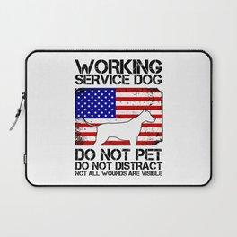 PTSD Awareness Service Dog Remember Everyone Served Laptop Sleeve