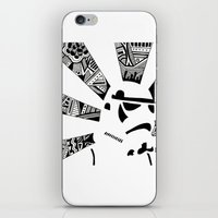 storm trooper iPhone & iPod Skins featuring Storm Trooper by Meg Langmyer