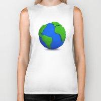 globe Biker Tanks featuring Globe by Tassos Kotsiras