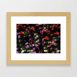 Floral Camoflague Framed Art Print