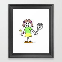 Tennis Girl Framed Art Print