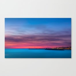 Red sunset over Porto Canvas Print