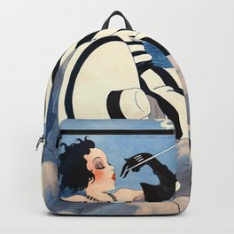 French Art Deco Woman Backpack