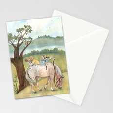 A Girl, A Pony and a Good Book Stationery Cards