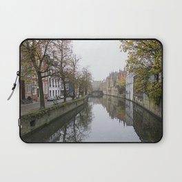 Brugge in the mist Laptop Sleeve