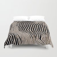 calligraphy Duvet Covers featuring it's waving calligraphy by Anna Grunduls