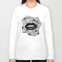 lips Long Sleeve T-shirts featuring Lips by Aurelie