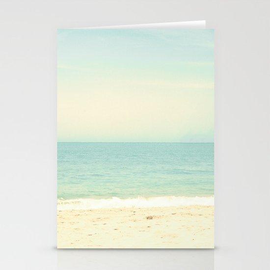 Pastel Retro Beach  Stationery Cards