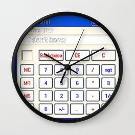 Calculator Wall Clock