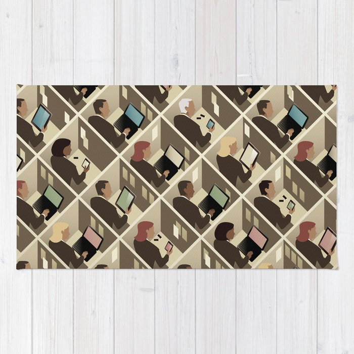 Cubicles Rug By Johnwtomac Society6