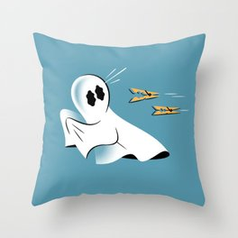 A Fearful Phantom (Teal) Throw Pillow