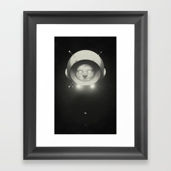 Space Kitty Framed Art Print
